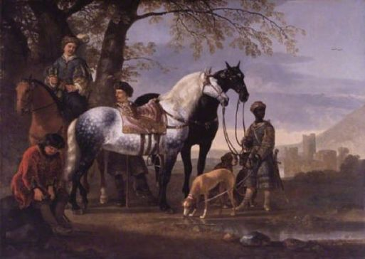 Cuyp, Aelbert; Huntsmen Halted; The Barber Institute of Fine Arts; http://www.artuk.org/artworks/huntsmen-halted-33028