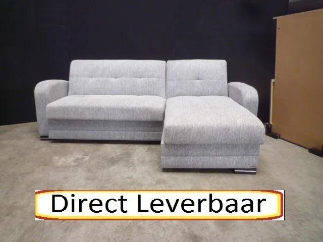 Loungebank slaapbank H15 kubo licht grijs  Hoekbankennl