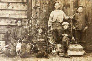 Schafttijd jongens vlas 1915