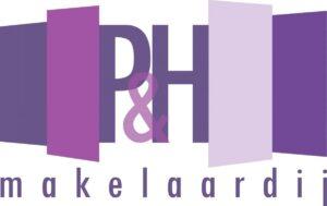 Logo P&H with makelaardij NC