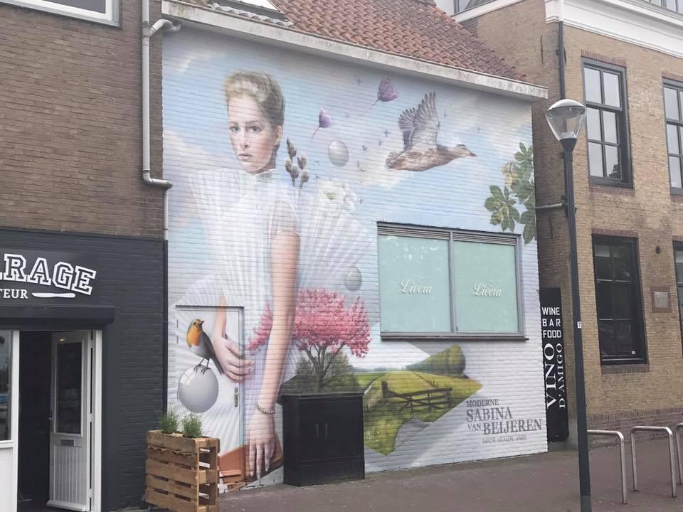 Nieuwe muurschildering in het centrum van oud beijerland hoeksch nieuws - Nieuw muurschildering ...