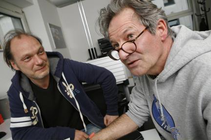 Martin Brambach und Volker Risch; Bild: WDR/Sibylle Anneck