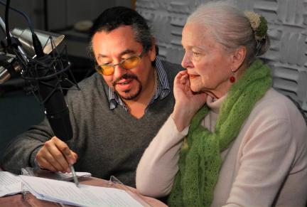 Regisseur Leonhard Koppelmann und Eva-Maria Hagen; Bild: SWR/Peter A. Schmidt