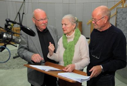 Hans Teuscher, Eva-Maria Hagen und Dieter Mann; Bild: SWR/Peter A. Schmidt
