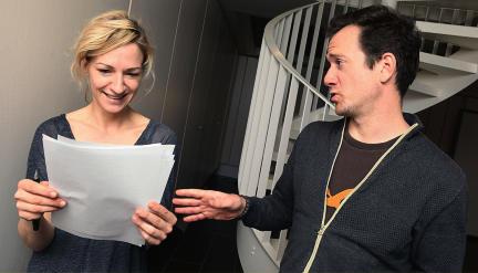 Tom Felski (Fabian Gerhardt) und Andrea (Anika Mauer) in dem Stück