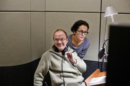 Marie-Lou Sellem, Jens Wawrzeck, Bild: Dradio / Jonas Maron