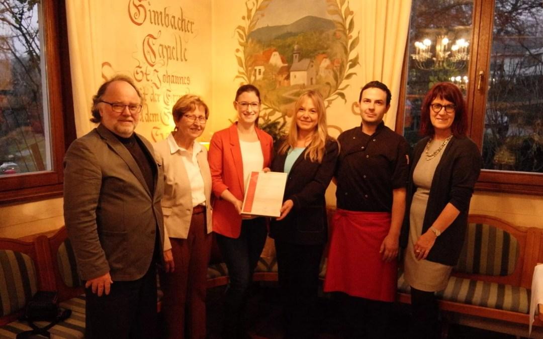 Team des Hofs Gimbach bei der Auszeichnung von Hessen a la Carte