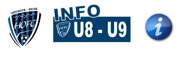 [U8/U9] Info vacances