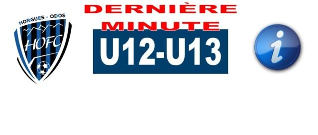 [U12/U13] Modification d'horaire pour le plateau d'Horgues