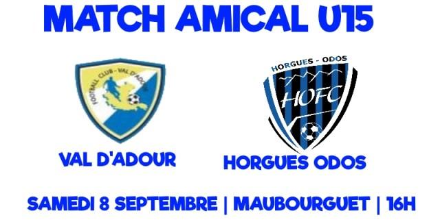 [U15] Match amical à Maubourguet
