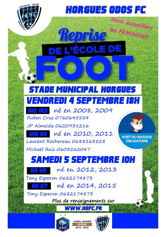 [ECOLE DE FOOT] Les dates de reprise