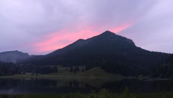 Spitzingsee (Bayern) am Abend
