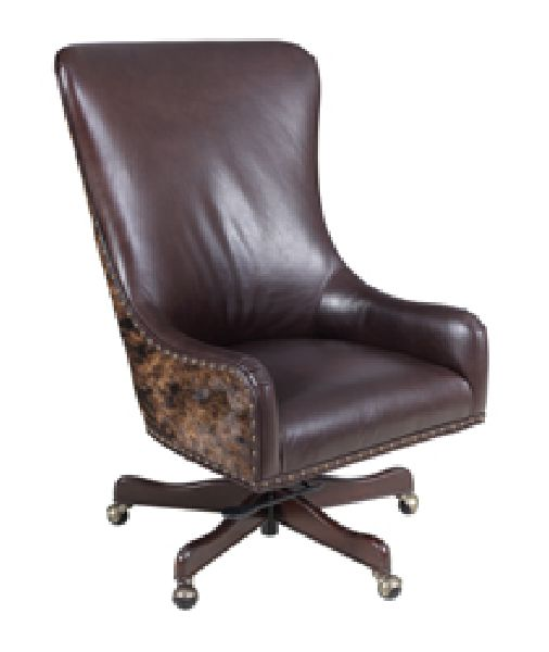 hair on hide office chair camping chairs walmart hannah executive hoffer furniture