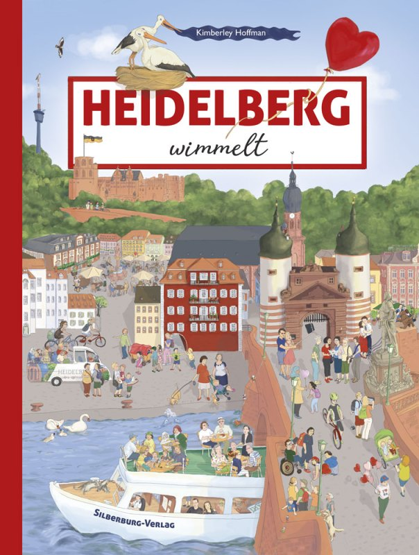 Heidelberg wimmelt - This search and find book (wimmelbook) invites you to explore the beautiful city of Heidelberg. This is a search and find (wimmel) book showing the Heidelberg castle, the Old City, the Old Bridge, a ship, the publisher's name and many different characters