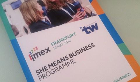 She means business – mein Rückblick auf die Premiere bei der #IMEX18