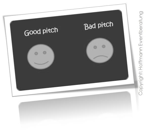 Good pitch, bad pitch – raus aus der Pitchmisere!