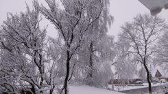 Winter kurz vor Ostern 2018