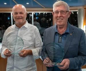 """Zwei neue """"Käsebotschafter Österreichs"""": Raimund Stani (links) und Johann Grubhofer (rechts) mit Ihren Auszeichnungen."""