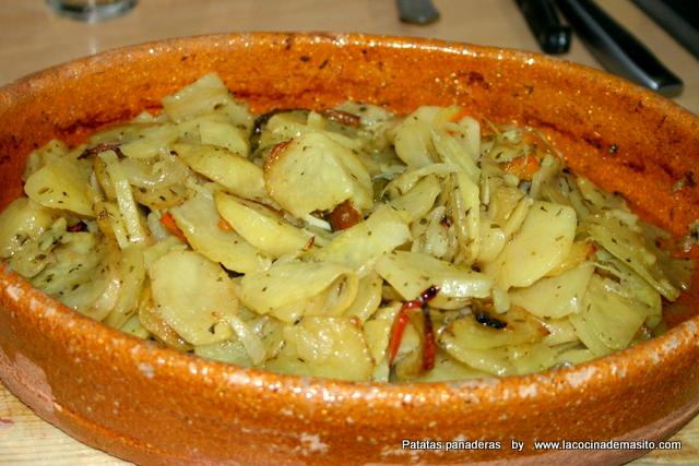 patatas panadera con pimientos
