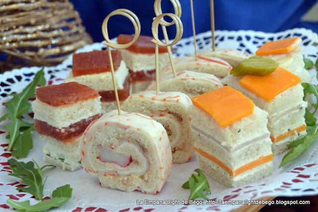 Canap s con pan de molde hogar cocina facil for Canapes faciles y rapidos