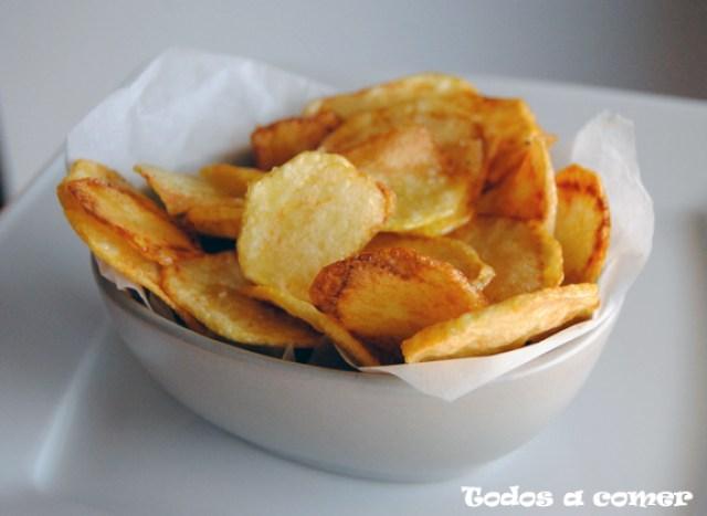 como hacer patatas chips