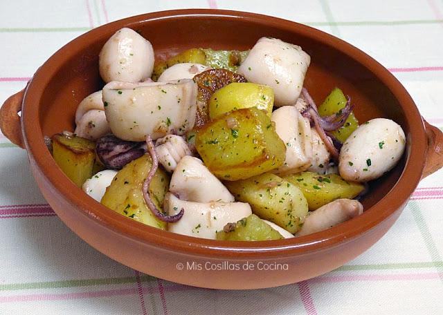 chipirones-y-patatas-al-ajillo