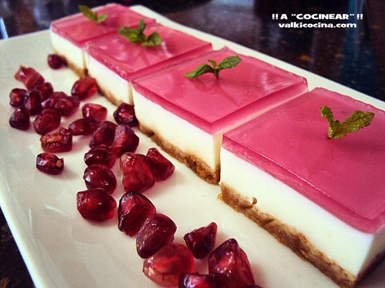Mini-cheese-cakes-con-gelatina-de-frambuesa