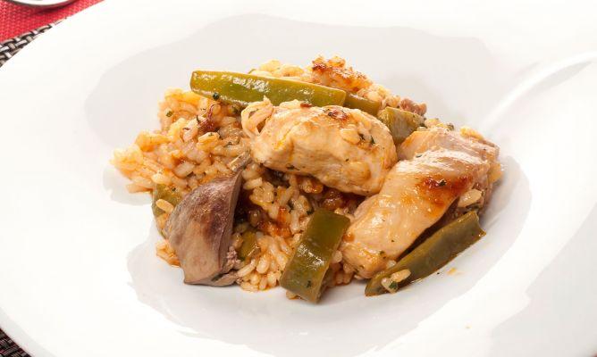 Receta de Arroz con pollo y judas verdes  Bruno Oteiza