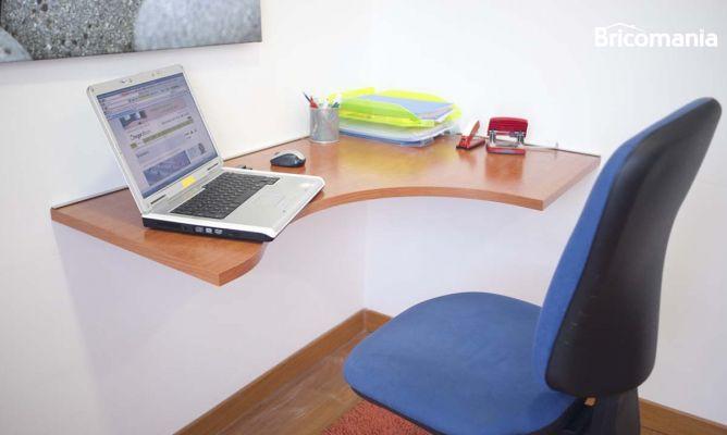 Fijar escritorio a la pared  Bricomana