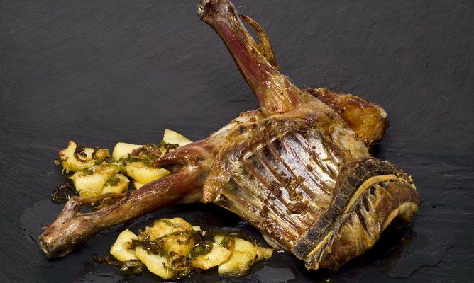 Receta de Cabrito asado con patatas panadera  Karlos