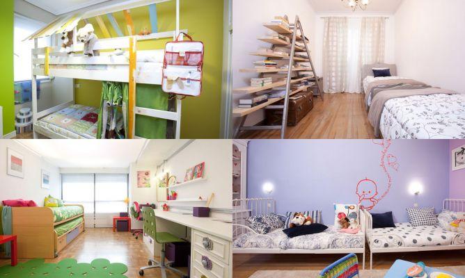 Ideas para decorar dormitorios para compartir  Hogarmania