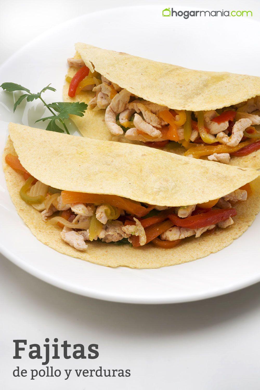 Receta de Fajitas de pollo y verduras  Karlos Arguiano