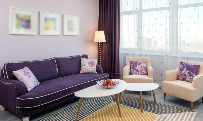Ideas para combinar un sof morado  Hogarmania