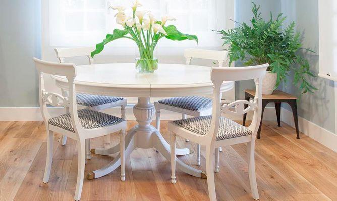 Cmo pintar una mesa de comedor de madera en blanco