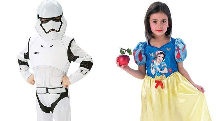 Costumes of Imperial Knight and Snow White. Source: Amazon.