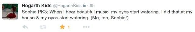 Sophie Music Tweet