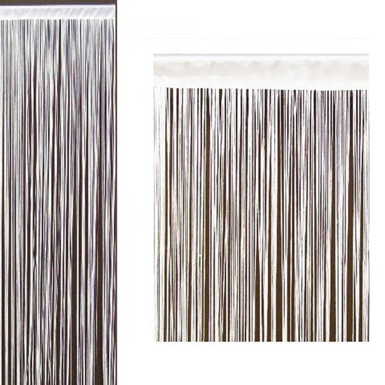 Cortina de hilos blanco 90x200 cm  Hogar y ms