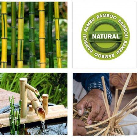 tapis bambou tresse modele couleur 160x230 cm