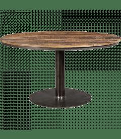 table a manger vieux bois ronde o 140cm 8 personnes