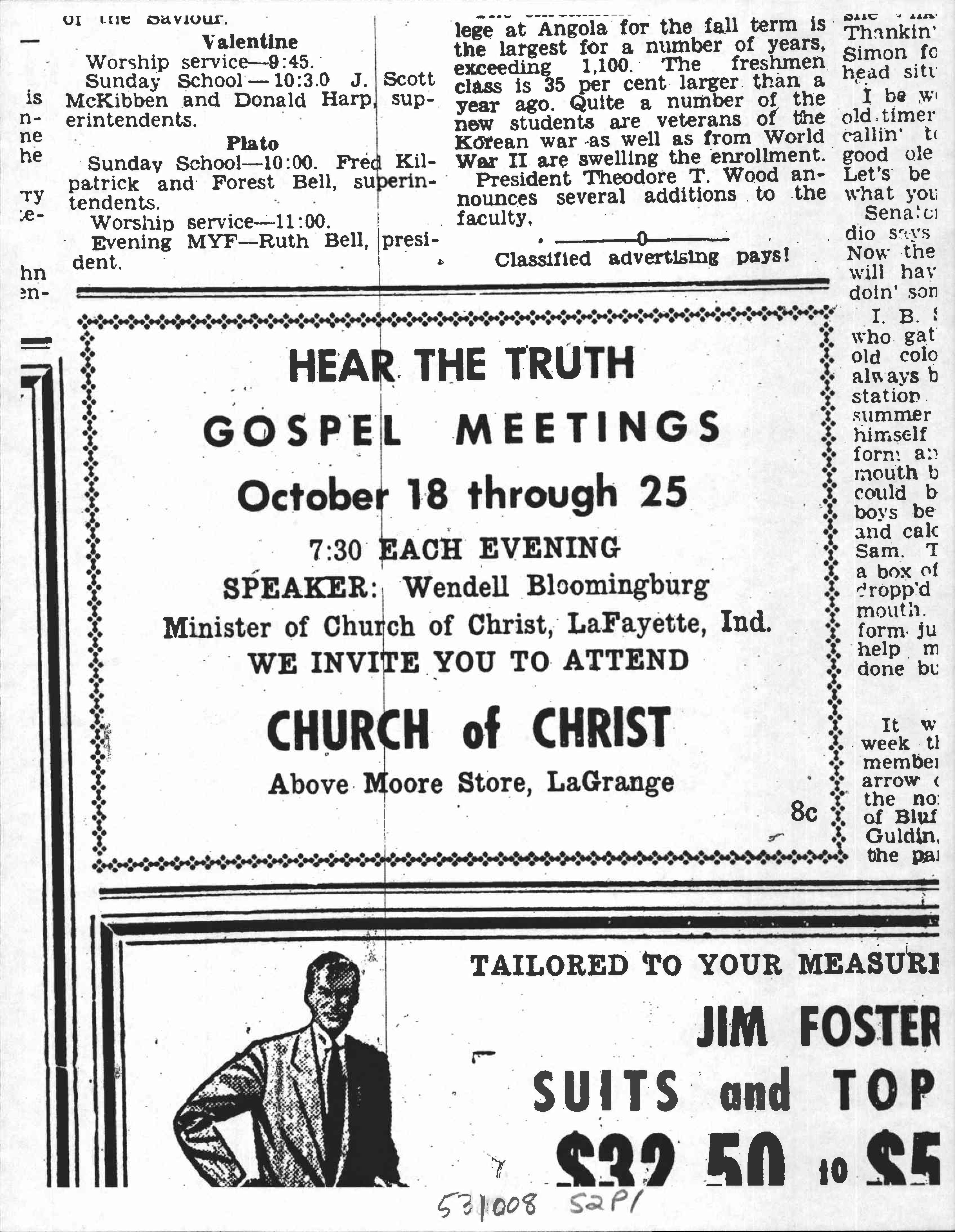 Newspaper Ads, VBS Flyers, Gospel Meeting Flyers and other