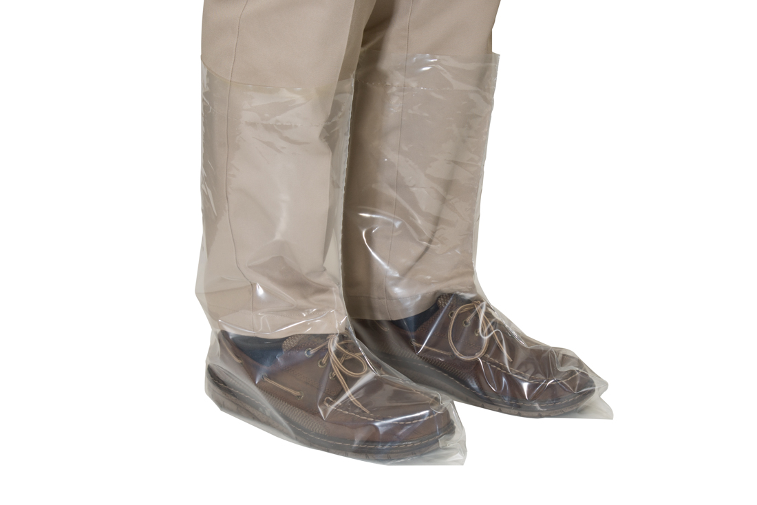 Plastic Disposable Boot Covers  4 mil  Hog Slat