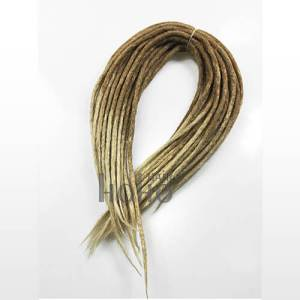synthetic dreadlocks extensions double-ended