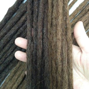 Straight hair dreadlocks