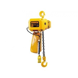1 Ton Harrington Electric Chain Hoist: 1 or 2 Speed, 14 or 28 FPM, Three Phase, NER  Electric