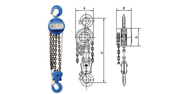 manual chain hoist and hand chain hoist- Chain block of Dongqi
