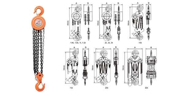 Manual hoist and hand hoist- Manual hoists series of