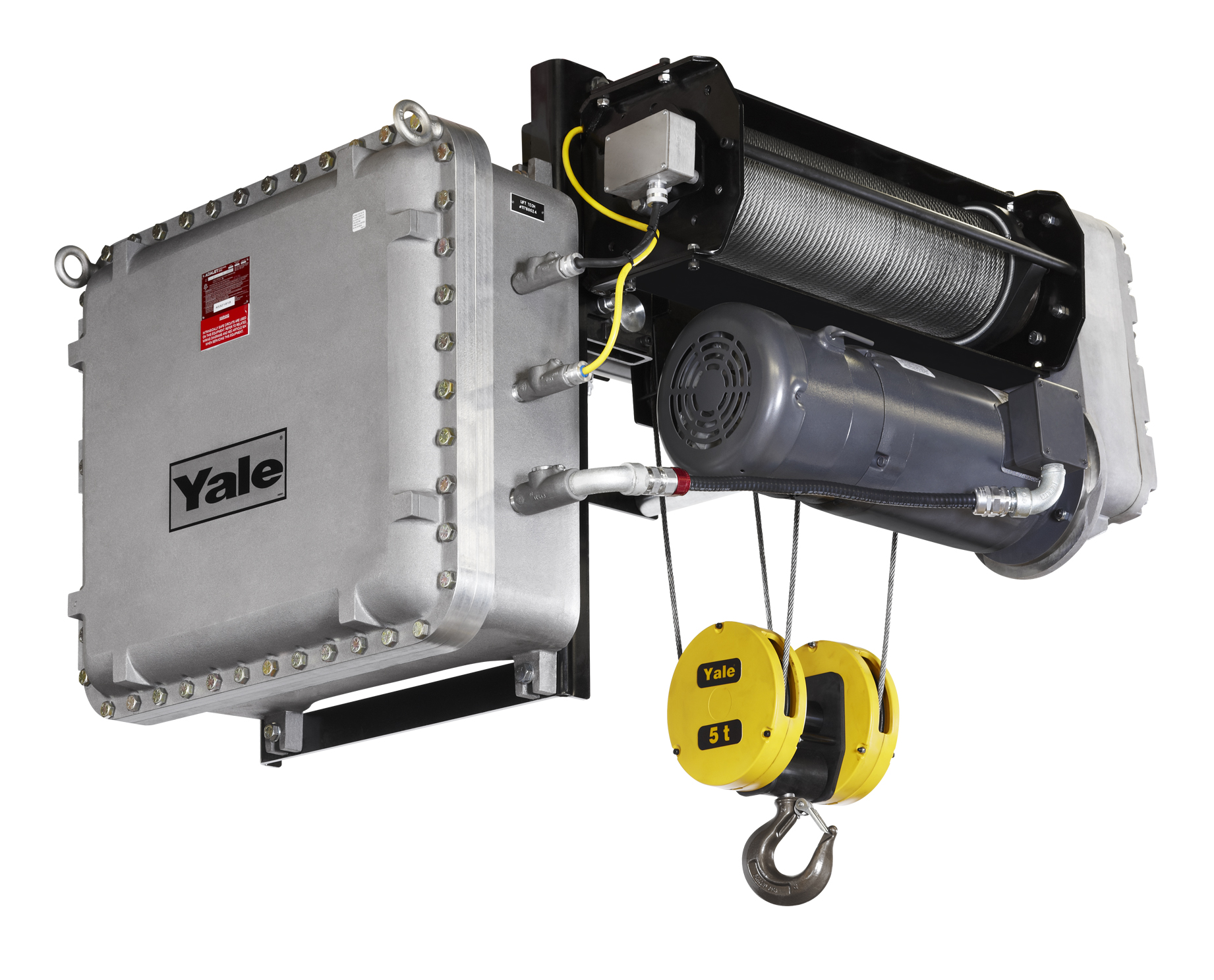 hight resolution of explosion proof option for yale global king wire rope hoist