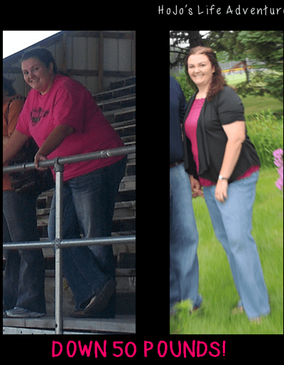 YEA! 50 Pounds Lighter!