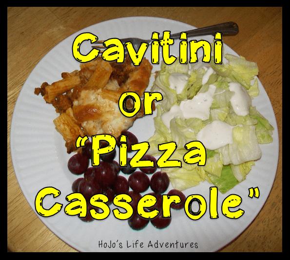 """Cavatini or """"Pizza Casserole"""""""