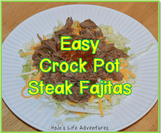 Easy Crock Pot Steak Fajitas